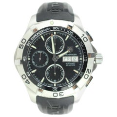 TAG Heuer Silver 2000 Aquaracer Day-date Stainless Steel 26mz0129 Watch