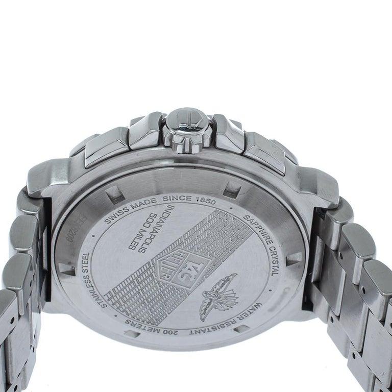 Tag Heuer Silver Steel Formula Chronograph Quartz Men's Wristwatch 44MM For Sale 1