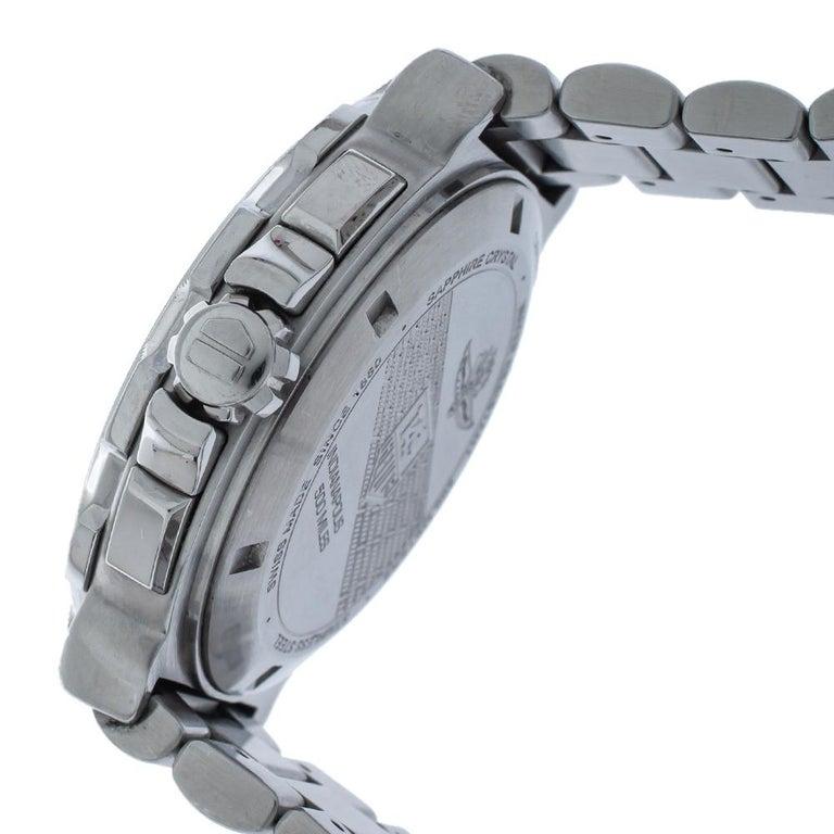 Tag Heuer Silver Steel Formula Chronograph Quartz Men's Wristwatch 44MM For Sale 3