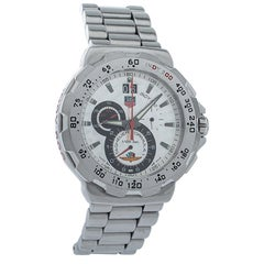 Tag Heuer Silver Steel Formula Chronograph Quartz Men's Wristwatch 44MM