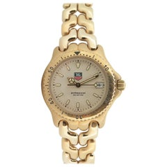 TAG Heuer Sport Link Yellow Gold Tone Watch