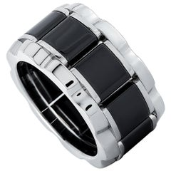TAG Heuer Stainless Steel and Ceramic, 0.007 Carat Diamond Ring
