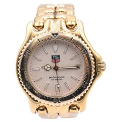 TAG Heuer Stainless Steel Gold-Plated Professional Watch Ref. S94.006 Movement