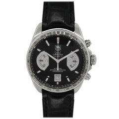 TAG Heuer Stainless steel Grand Carrera Automatic Wristwatch Ref cav511a