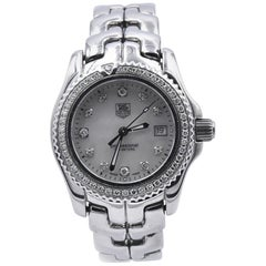TAG Heuer Stainless Steel Ladies Link Professional with Diamond Bezel