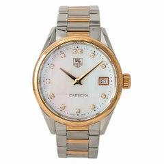 TAG Heuer WAR1352 Carrera Women's Watch Rose Gold Mother of Pearl Dial Quartz