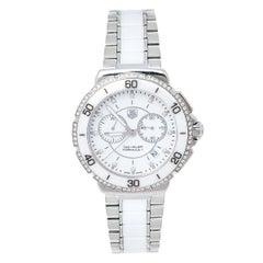 Tag Heuer White Ceramic Diamond Formula 1 CAH1213 Women's Wristwatch 41 mm