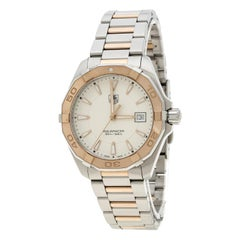Tag Heuer White Rose Gold Tone Stainless Steel Aquaracer WAY1150.BD0911