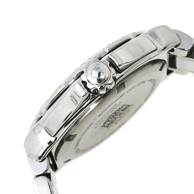 Tag Heuer White Stainless Steel & Ceramic Diamonds Formula Women's Wristwatch 37 1
