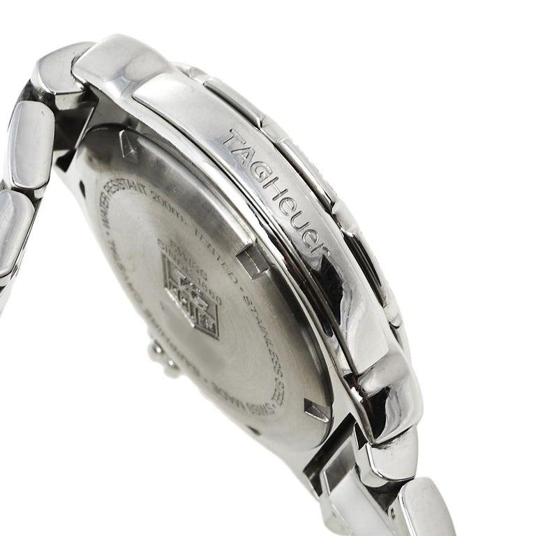 Tag Heuer White Stainless Steel & Ceramic Diamonds Formula Women's Wristwatch 37 2