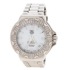 Tag Heuer White Stainless Steel Formula 1 WAC1215.FC6219 Women's Wristwatch