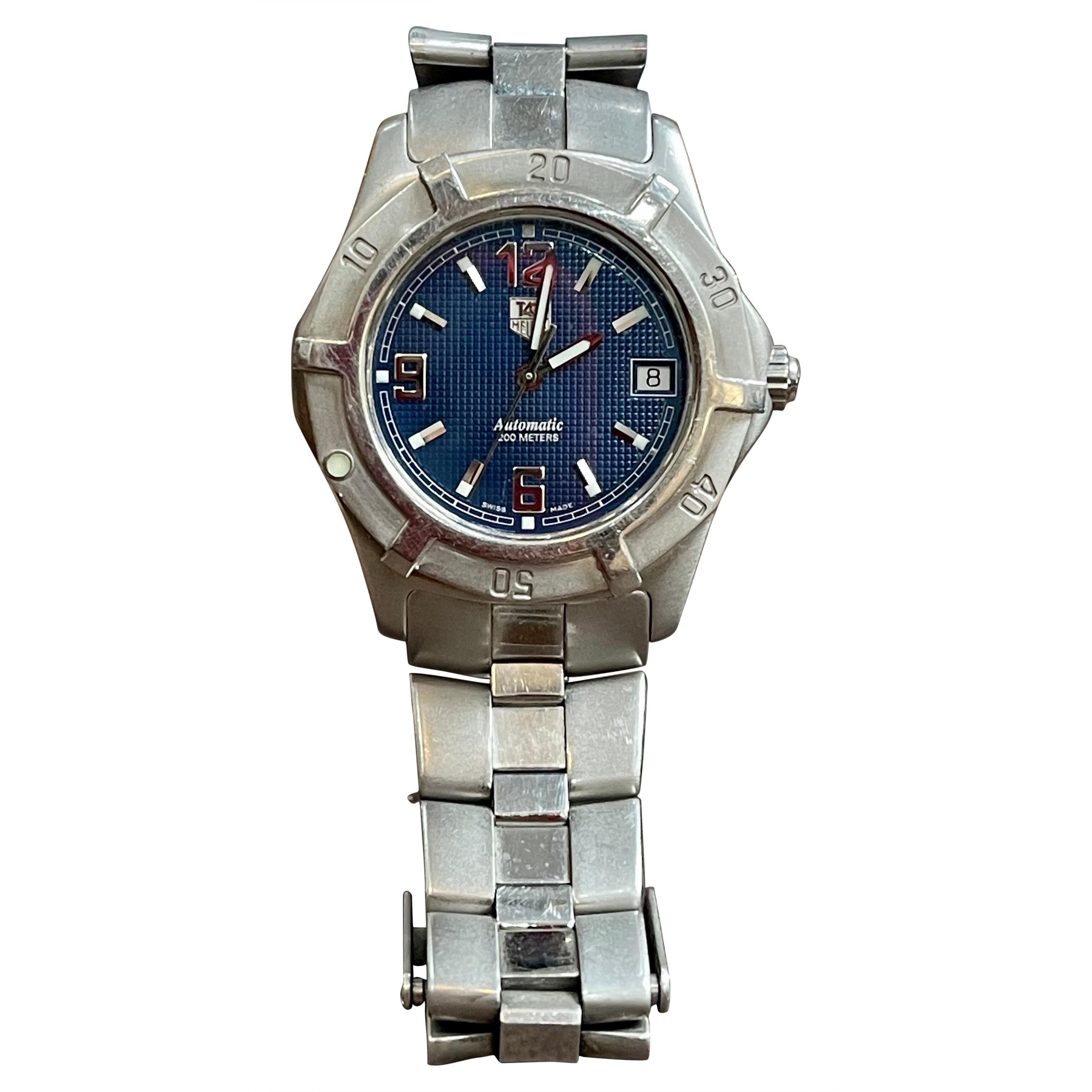 TAG Heuer WN2112 Automatic Stainless Steel Watch Professional 200M with Date&Box