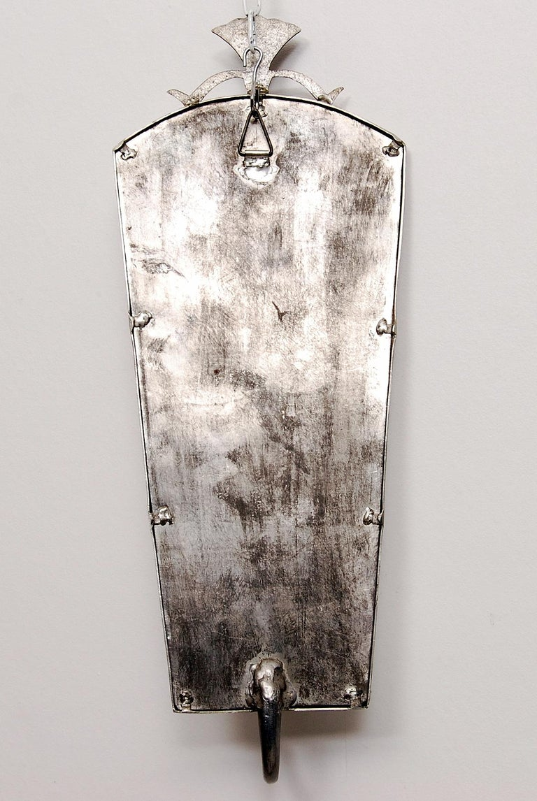 Tage Fougstedt Pewter Mirror and Sconces, Swedish Grace, 1920s For Sale 10