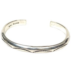 TAHE Navajo Sterling Silver 25 Gr. Cuff Bracelet