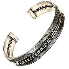 Tahe Navajo Sterling Silver 34 Grams Cuff Bracelet