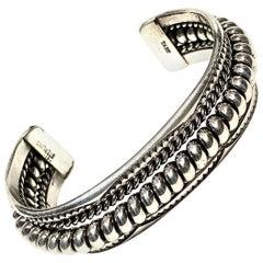 TAHE Navajo Sterling Silver 57 Gr. Cuff Bracelet
