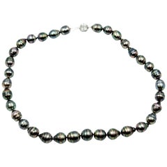 Tahitian Baroque Pearl Strand with 14 Karat White Gold Ball Clasp