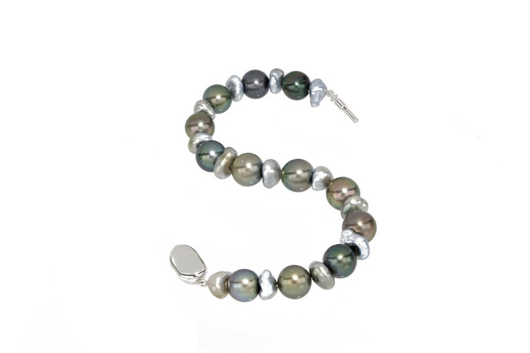Contemporary Tahitian Pearl Bracelet For Sale