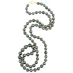 Tahitian Pearl Necklace Natural Color
