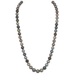 Tahitian Pearl Necklace, Unique Length