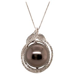 14.7MM Tahitian Pearl Pendant Necklace