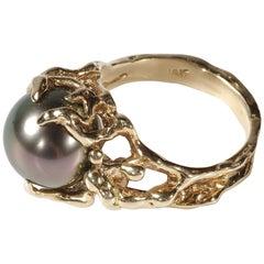 Tahitian Pearl Ring Midcentury