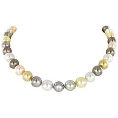 Tahitian, South Sea, and Freshwater Cultured Pearl Necklace
