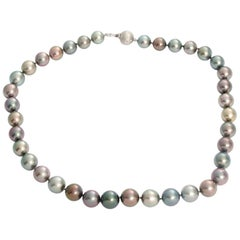 Tahitian South Sea Pearl Necklace Diamond Clasp