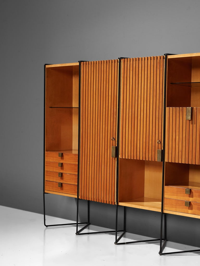 Mid-Century Modern Taichiro Nakai Cabinet in Maple and Mahogany For Sale