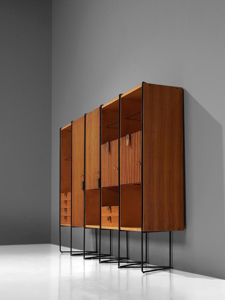 Italian Taichiro Nakai Cabinet in Maple and Mahogany For Sale