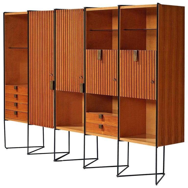Taichiro Nakai Cabinet in Maple and Mahogany For Sale