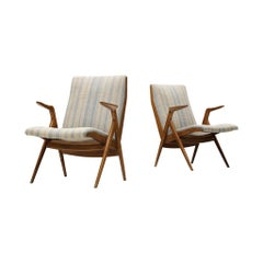 Taichiro Nakai Rare Pair of Armchairs in Cherry