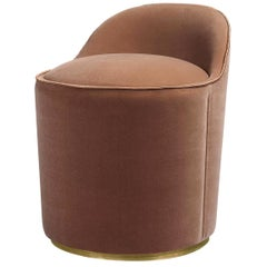 Tail Lounge Chair, Low Back, Brass Base