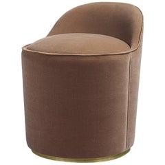 Tail Low Back Modern Italian Style Chauffeuse Lounge Chairs