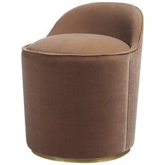 Tail Low Back Modern Italian Style Chauffeuse Lounge Dining Chairs