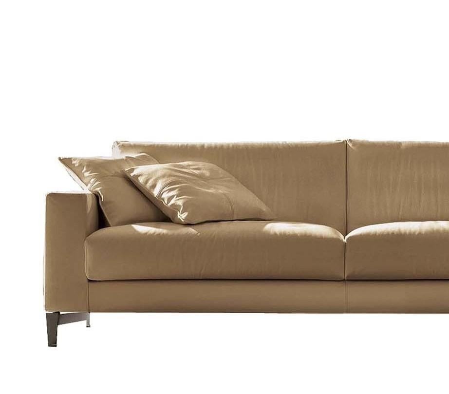 Tailor Light Brown Leather Sofa