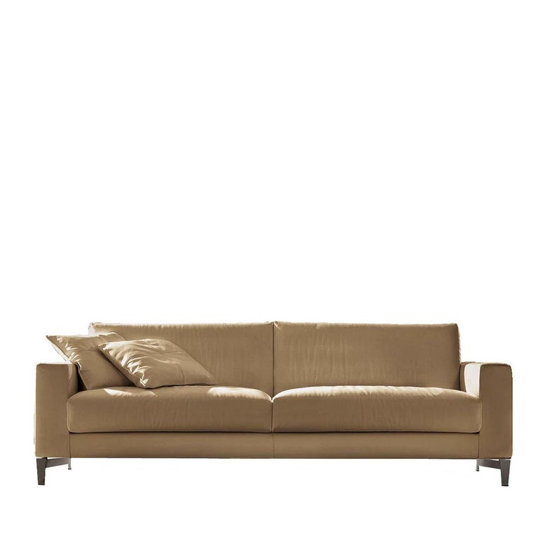 Tailor Light Brown Leather Sofa For