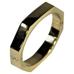 Tailored Gold Octagonal Bangle