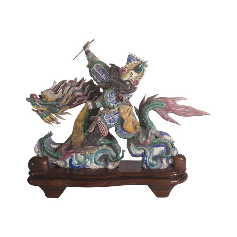 Taipei Temple Roof Ornament For Sale