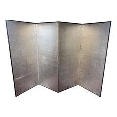 Taisho 4-Panel Silver Screen