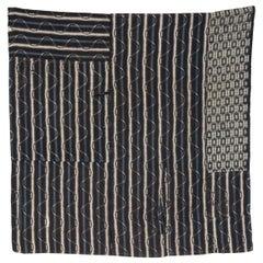 Taisho Era Japanese Kasuri Boro Patchwork Textile