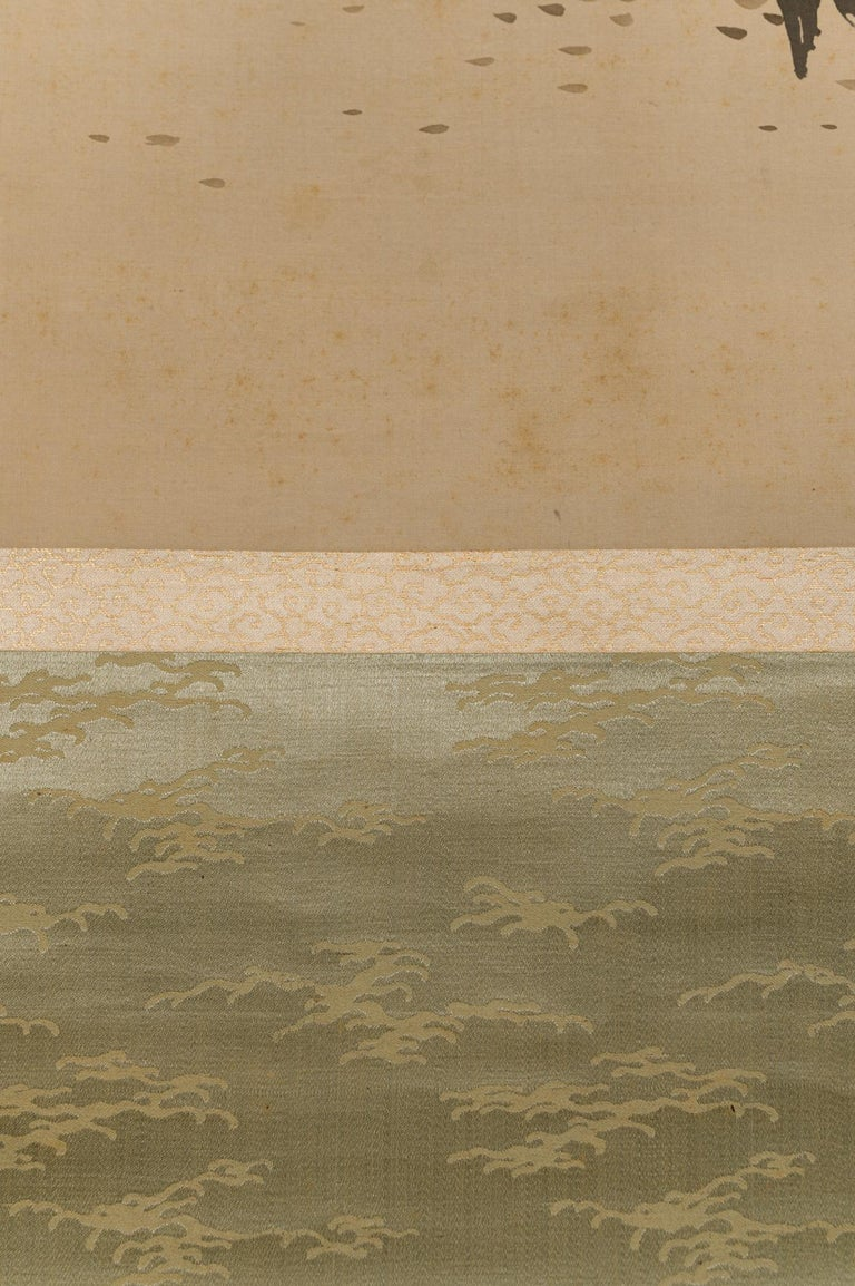 Taisho Period Scroll of Winter Trees For Sale 4