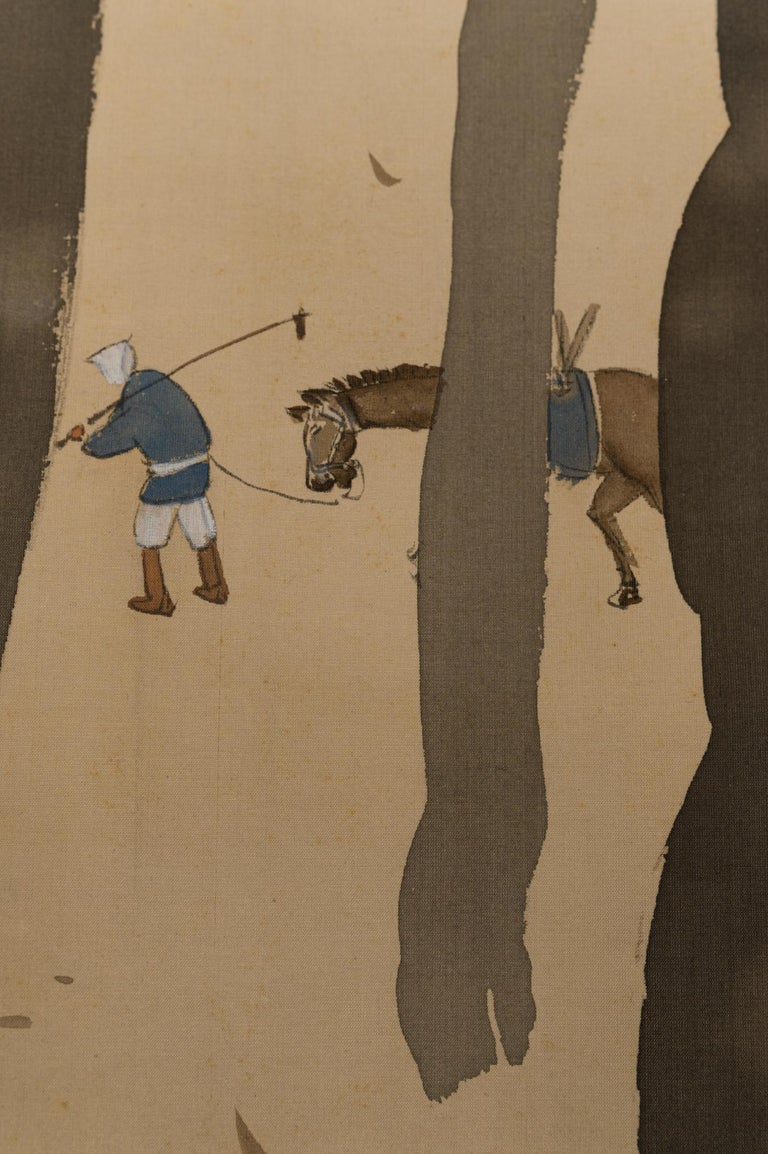 20th Century Taisho Period Scroll of Winter Trees For Sale