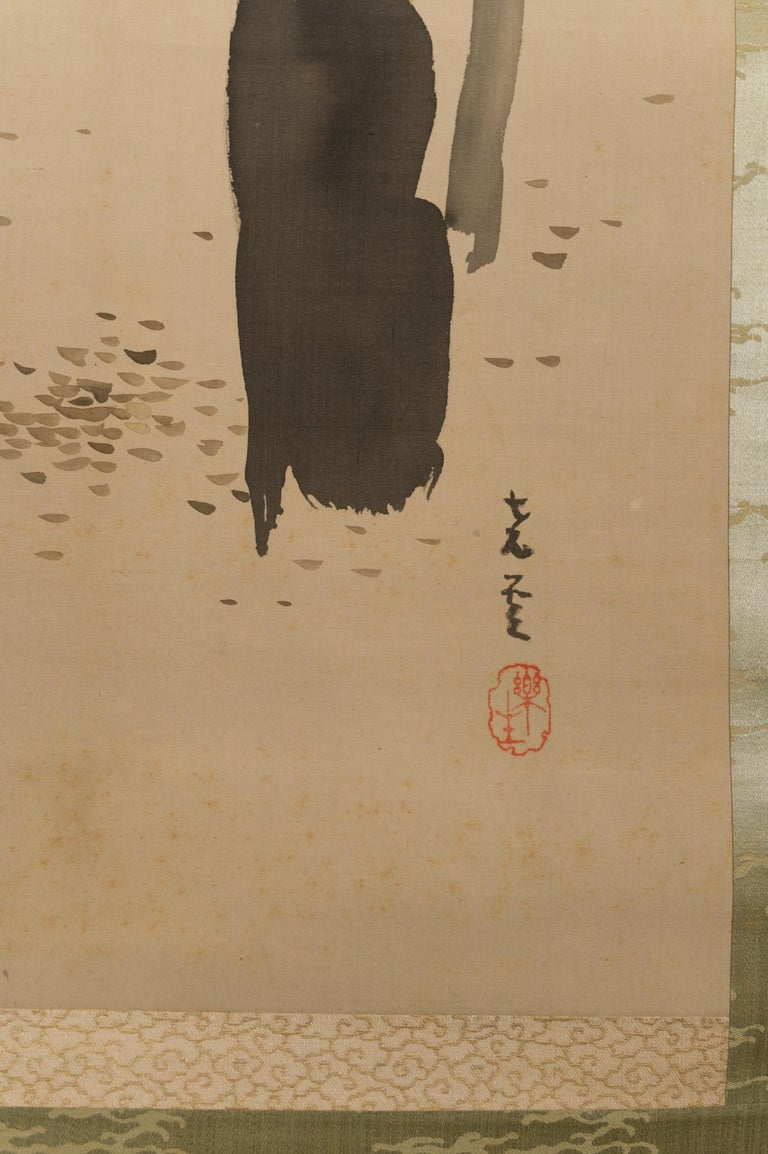 Taisho Period Scroll of Winter Trees For Sale 1