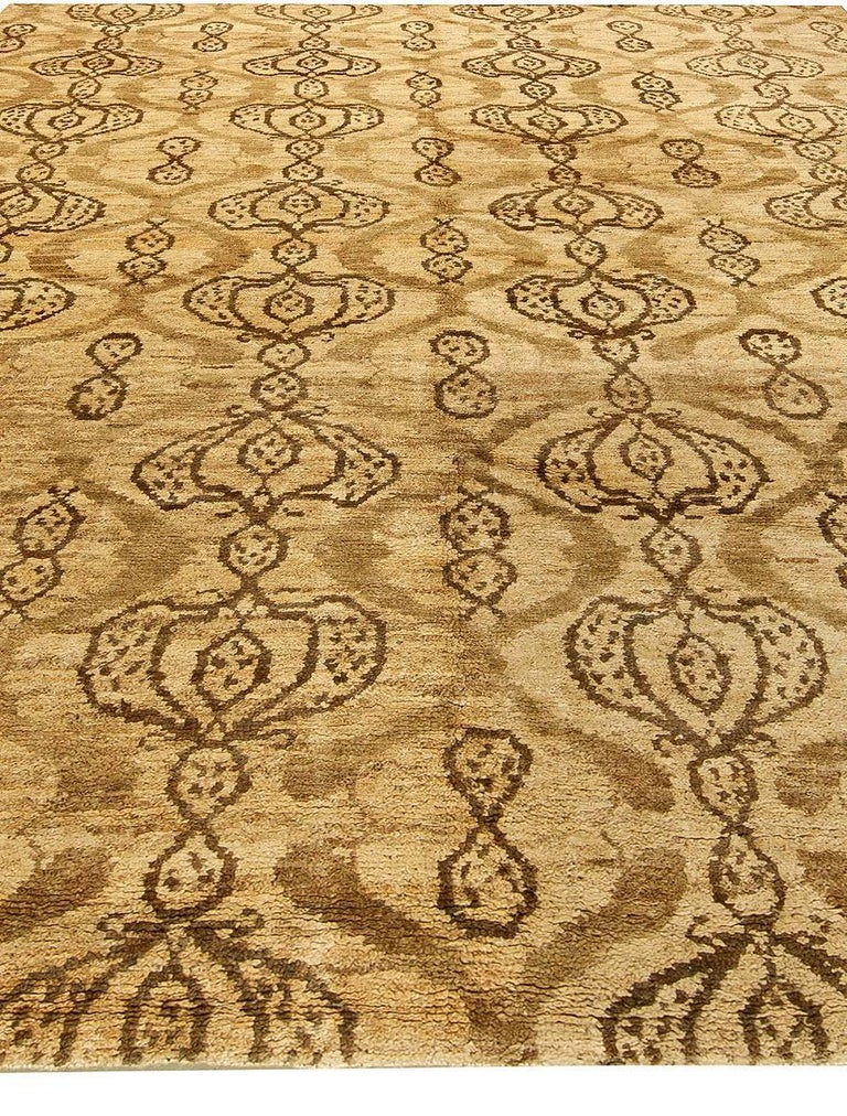 Hand-Knotted Taj Brown Rug For Sale