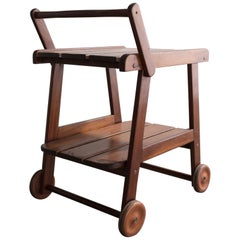 Tajá Tea Cart in Wood by Sergio Rodrigues, circa 1978