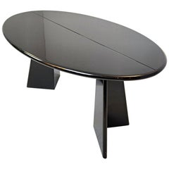 """Takahama """"Antella"""" Console Table in Black Lacquered Wood"""