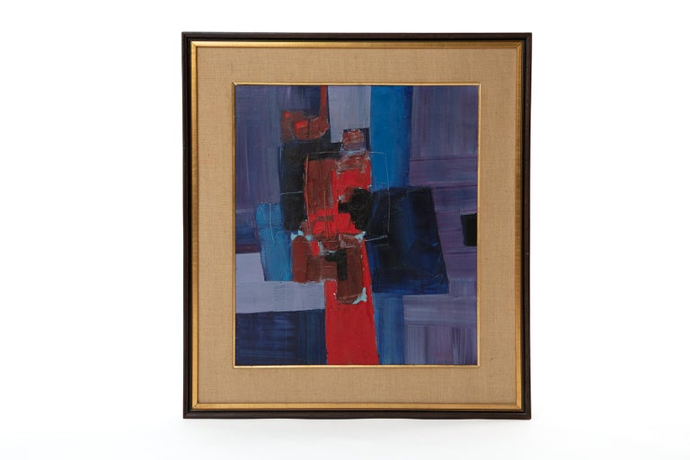 Takase Yasue oil on linen painting circa early 1960's. This and the other work we have by Yasue were purchased directly from her. Her understanding of color and movement are very evident in this masterful piece.