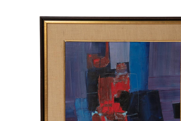 Mid-Century Modern Takase Yasue Abstract Expressionist Painting For Sale