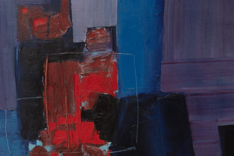 Japanese Takase Yasue Abstract Expressionist Painting For Sale